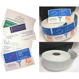 Dental Appointment Cards for on-demand printing via Zebra desktop Printers
