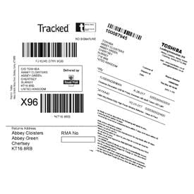 Dual-Sided Direct Thermal Labels For the Toshiba TEC DB-EA4D Label Printer
