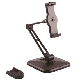 Adjustable Tablet Stand with Arm - Pivoting - Wall-Mountable