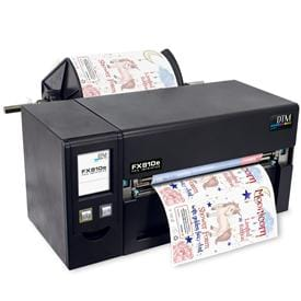 Industrial-grade thermal foil printer for up to 220 mm wide labels with metallic highlights
