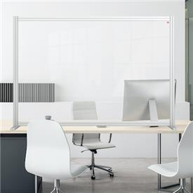 Premium Plus Modular Desk Divider Screen - Clear Acrylic