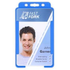 Biodegradable Open Faced ID Card Holders - Portrait