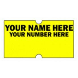 CT1 21mm x 12mm Labels Personalised with company logo and or text
