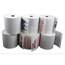 Professional Custom Pre-Printed Thermal Receipt Rolls Printed 1, 2 or 3 Colours
