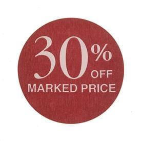 Pre-Printed Discount Retail Labels