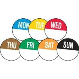 Removable Day of The Week Food Labels