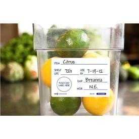 Removable SHELF LIFE labels
