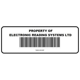 Custom Printed Asset Labels and Tags - Barcoded