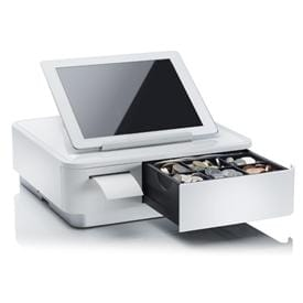 Compact Bluetooth combined printer and cash drawer