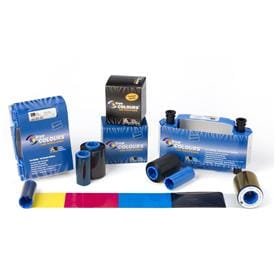 Zebra True Colours® i Series card printer ribbons and film
