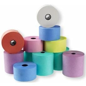 Quality Coloured Thermal Till Rolls  - Delivered Next Day