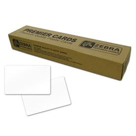 Zebra Quality Blank White PVC ID Cards for Vivid Colours Every Print