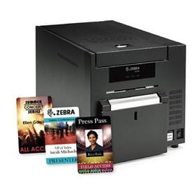 ZC10L printer produces large passes and badges that are approximately 3.5
