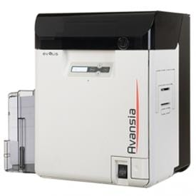 High resolution retransfer card printer for large print runs