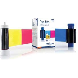 Official dye film, ribbons & cleaning kits for Magicard ID card printers.