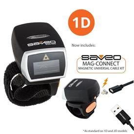 Wearable 1D Barcode Scanner with Bluetooth