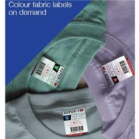 Colour fabric labels on demand