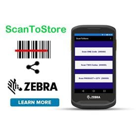 Zebra Specific - ScanToStore Android Data Collection APP Utility Software