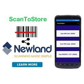 Newland Specific - ScanToStore Android Data Collection APP Utility Software