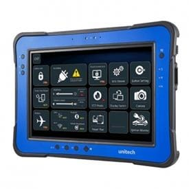 Unitech TB160 - a rugged Windows 10 tablet equipped with a sunlight viewable multi-touch 10.1inch display