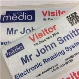 Polyester Satin Fabric Labels with Removable Adhesive